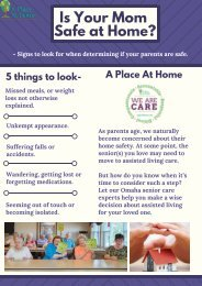 Know 5 Major Signs To Look For When Determining If Your Parents Are Safe