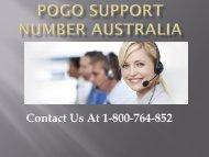 Pogo Support Number Australia- PPT-converted