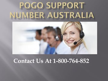 Pogo Support Number Australia 1-800-764-852