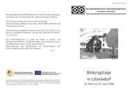 Programm - Bauer Architekten