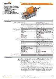 Technisches Datenblatt NM24A-F - Belimo