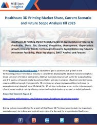 Healthcare 3D Printing Market Share, Current Scenario and Future Scope Analysis till 2025