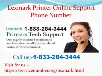 Lexmark Printer Customer Support 1-833-284-3444 Number- How to Get Instantaneous Solution Page Alignment Issue