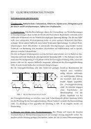 E5 GLEICHRICHTERSCHALTUNGEN