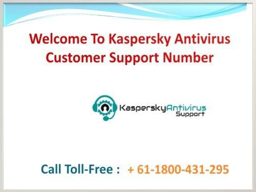 Kaspersky support phone number Australia + 61-1800-431-295