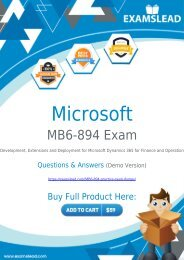 Easily Pass MB6-894 Exam with our Dumps PDF