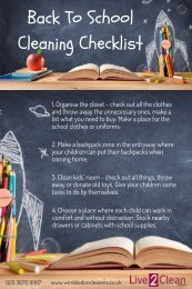 Back to school cleaning checklist