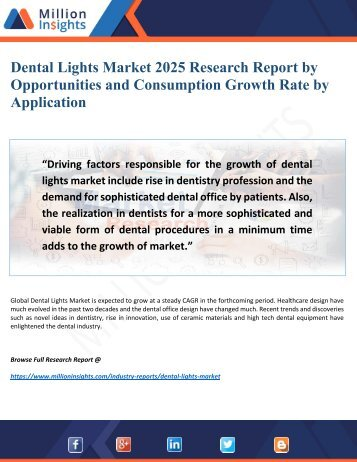 Dental Lights Market 2025 Research Report In-Depth Analysis Revenue, Price and Gross Margin