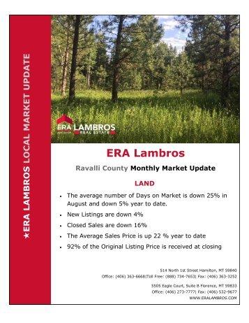 Bitterroot Land Market Update - August 2018