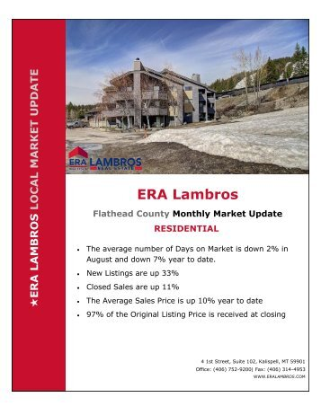 Flathead County Residential Market Update - August 2018