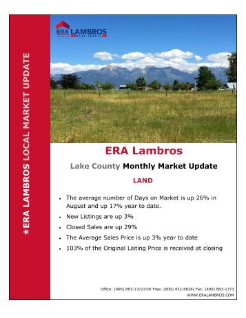 Lake County Land Market Update - August 2018