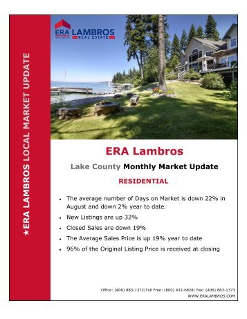 Lake County Residential Market Update - August 2018pub