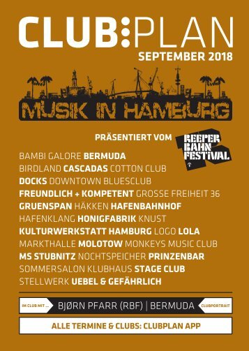 Clubplan Hamburg - September 2018