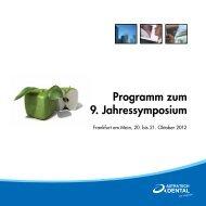 Programm zum 9. Jahressymposium - Astra Tech dental