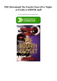 PDF [Download] The Fourth Closet (Five Nights at Freddy's) EBOOK #pdf