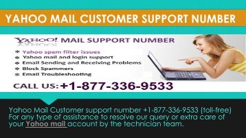 Contact Number +1-877-336-9533 For Yahoo Help
