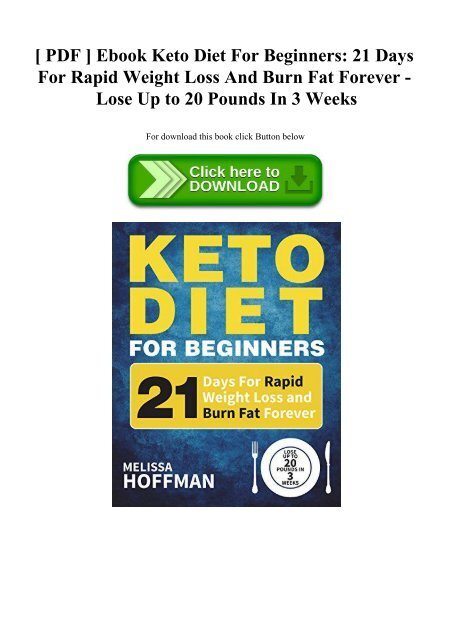 keto diet for weight loss beginners