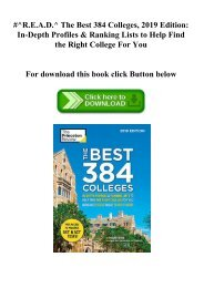 #^R.E.A.D.^ The Best 384 Colleges  2019 Edition In-Depth Profiles & Ranking Lists to Help Find the Right College For You (DOWNLOAD E.B.O.O.K.^)
