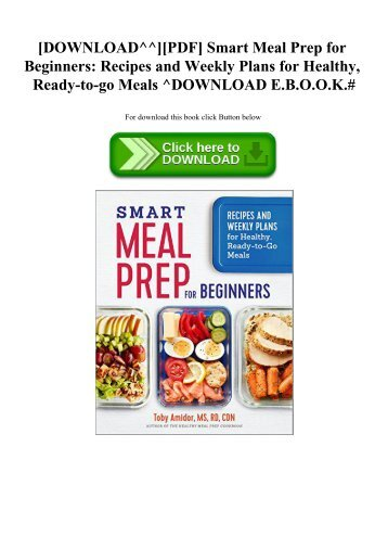 Pdf download the complete anti inflammatory diet for beginners a downloadpdf smart meal prep for beginners recipes and weekly forumfinder Gallery