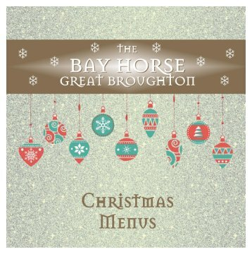 Bay Horse Christmas Menus 2018