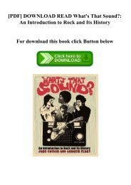[PDF] DOWNLOAD READ What's That Sound An Introduction to Rock and Its History (DOWNLOAD E.B.O.O.K.^)