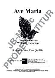 Ave Maria (für Gemischten Chor SATB)
