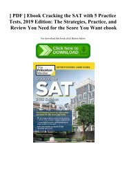 [ PDF ] Ebook Cracking the SAT with 5 Practice Tests  2019 Edition The Strategies  Practice  and Review You Need for the Score You Want ebook