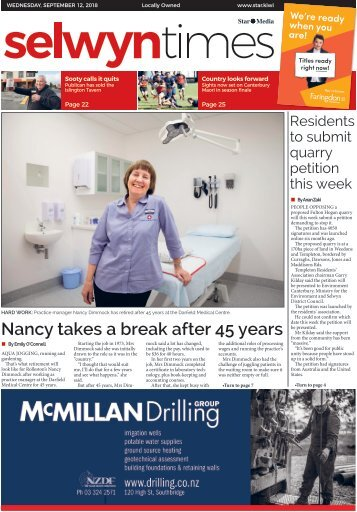 Selwyn Times: September 12, 2018