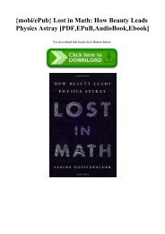 {mobiePub} Lost in Math How Beauty Leads Physics Astray [PDF EPuB AudioBook Ebook]
