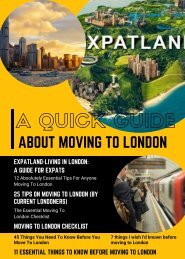 ABOUT MOVING TO LONDON