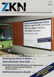 Die monatliche Zeitschrift für alle niedersächsischen Zahnärzte