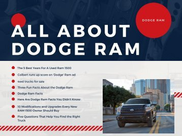 All About Dodge Ram