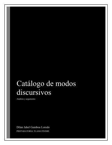 Catalago analisis y argumento