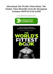 (Download) The World's Fittest Book The Sunday Times Bestseller from the Strongman Swimmer DOWNLOAD @PDF