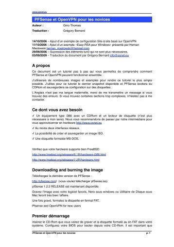Trad FR pfsense OVPN - OSNet.eu