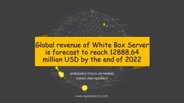 Global revenue of White Box Server is forecast to reach 12888.64 million USD by the end of 2022