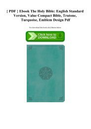 { PDF } Ebook The Holy Bible English Standard Version  Value Compact Bible  Trutone  Turquoise  Emblem Design Pdf