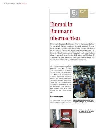 Wirtschaftsforum - Baumann Dekor