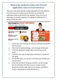 What is the method to follow the firewall application rules in Avast Antivirus?