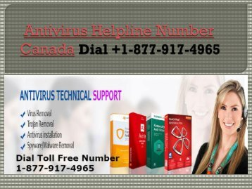 Dial +1-877-917-4965 Antivirus Support Number Canada