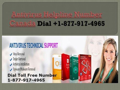 Dial +1-877-917-4965 Antivirus Support Number Canada