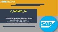 C_TADM55_74 Dumps Questions