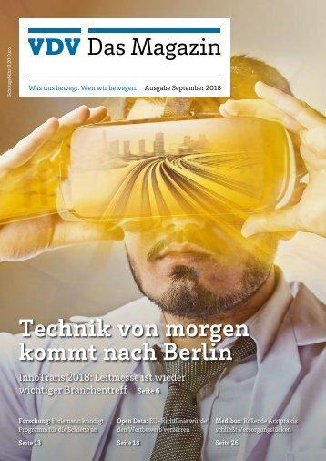 VDV Das Magazin Ausgabe September 2018