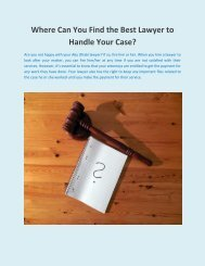 Where Can You Find the Best Lawyer to Handle Your Case