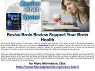 Reviva Brain : Cognitive Enhancement Supplement