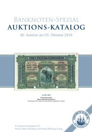 82. Auktion - Banknoten-Spezial - Emporium Hamburg