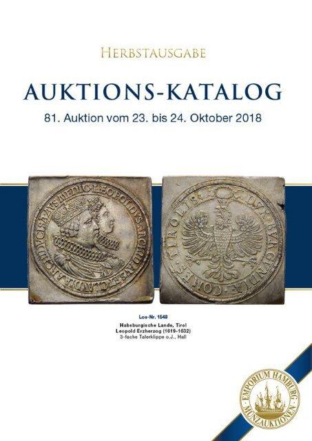 81. Auktion - Münzen & Medaillen - Emporium Hamburg