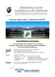 Internat. Alpen Adria - Nachwuchs Cup 2012 AUSSCHREIBUNG ...