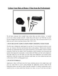 Colour Your Hair at Home - 5 Tips from the Professionals