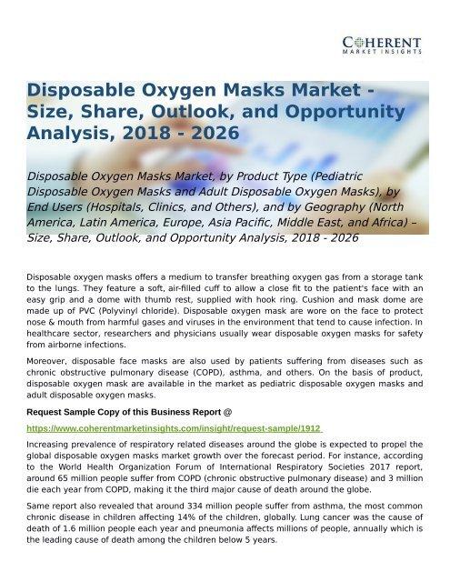 Disposable Oxygen Masks Market